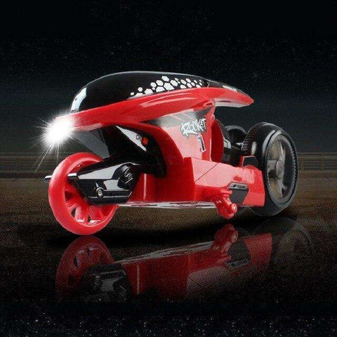 Image of 3 Color RC Futuristic Stunt Motorcycle Toy