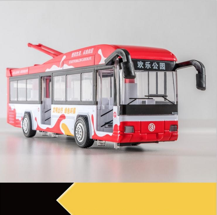 Alloy Pull Back Street Bus Replica