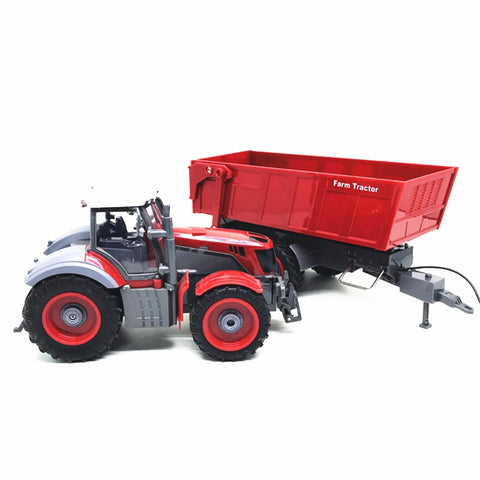 Image of Farmer Tractor car 1:28  2.7MHZ  Radio Remote Control Construction  RC car Dump truck  For Kids birthday Gift Toys