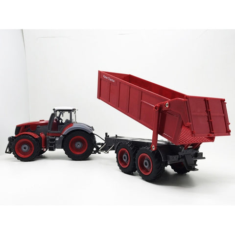 Farmer Tractor car 1:28  2.7MHZ  Radio Remote Control Construction  RC car Dump truck  For Kids birthday Gift Toys