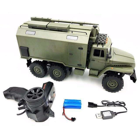 Image of WPL B36 1/16 Soviet Ural Remote Control Military Command Truck 6 Wheel Drive 0ff-road RC  Military Truck Rock Crawler KIT RTR