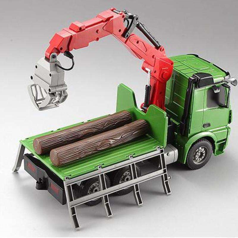 Green Big Remote Control Truck Transport Benz 2.4G 6CH