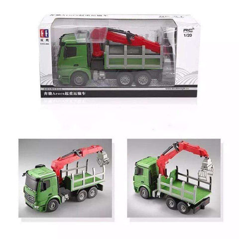 Image of Green Big Remote Control Truck Transport Benz 2.4G 6CH