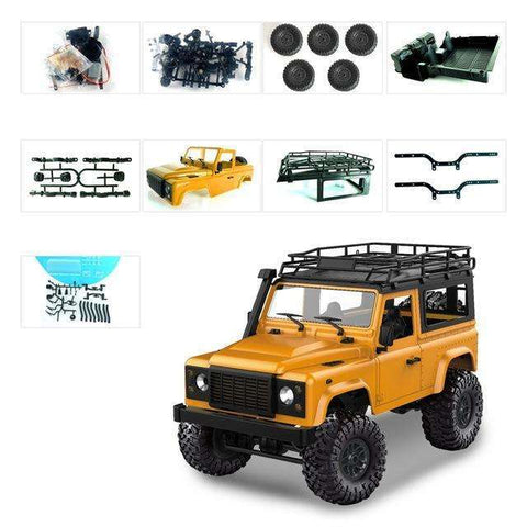 Image of MN Model D90 1:12 Scale RC Crawler Car 2.4G 4WD Remote Control Truck Toys Unassembled Kit MN-90K MN-91K Defender Pickup