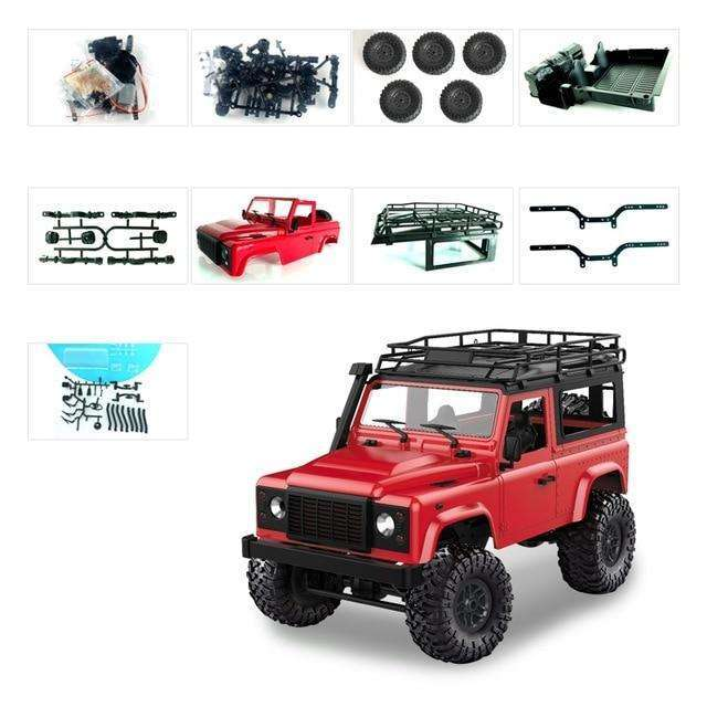 MN Model D90 1:12 Scale RC Crawler Car 2.4G 4WD Remote Control Truck Toys Unassembled Kit MN-90K MN-91K Defender Pickup