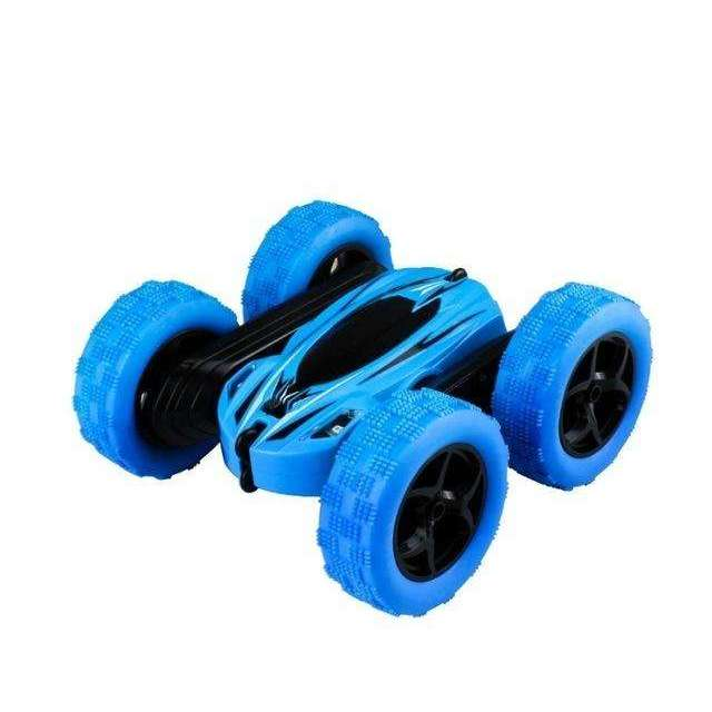 UTTORA Remote Control Cars Stunt Rc Car High Speed Flashing 3D Flip Green & Blue Carro Controle Remoto Toys For Children