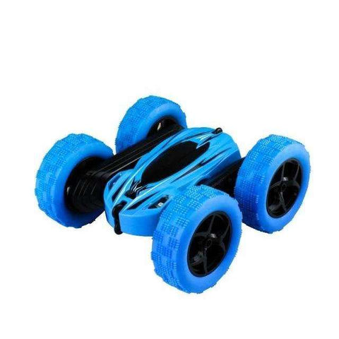 Image of UTTORA Remote Control Cars Stunt Rc Car High Speed Flashing 3D Flip Green & Blue Carro Controle Remoto Toys For Children
