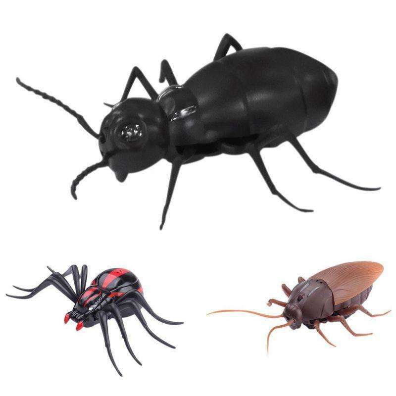 Infrared Ants / Cockroaches / Spiders Remote Control Mock Fake RC Toy Animal Toy Bugs for Party Joke Practice Entertainment