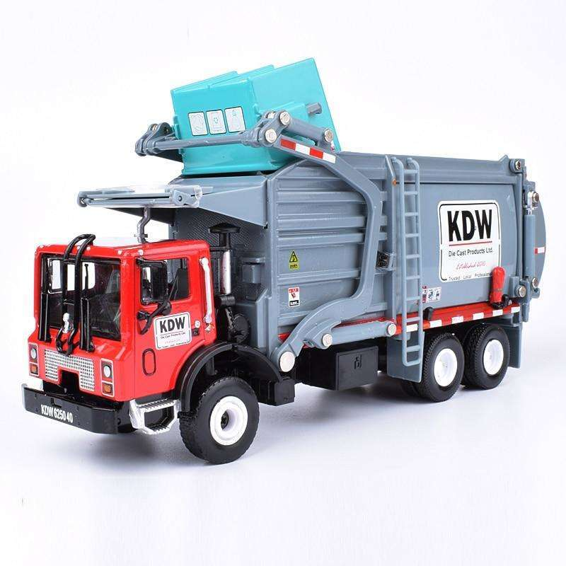 Alloy Diecast Barreled Garbage Carrier Truck