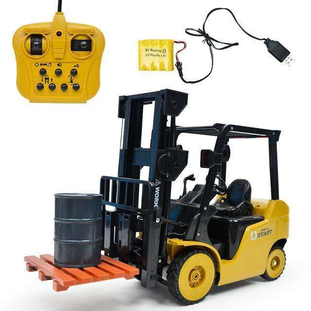 Rowsfire 1 Pcs 1:8 11 Channel RC Forklift Crane RC Construction Vehicle With High Quality Toy For Children Write