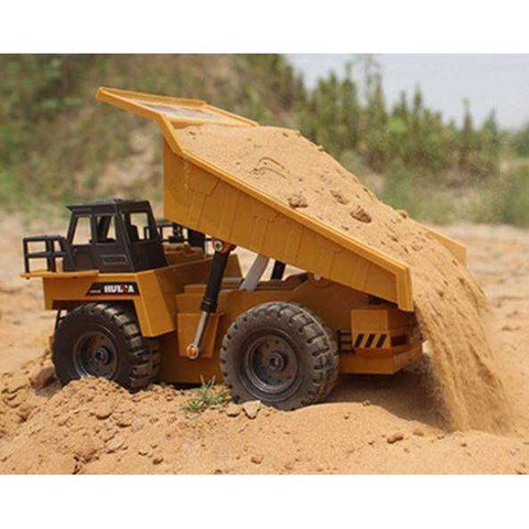 Image of RC Tipper Dump Truck Toy Tipper - Alloy Remote Control