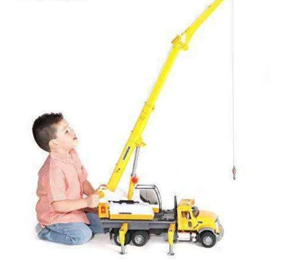 Image of Bruder Mack Granite Toy Crane Truck Replica
