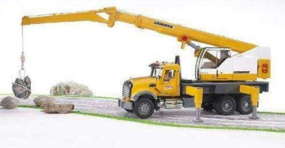 Bruder Mack Granite Toy Crane Truck Replica