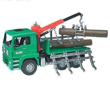 Bruder Toys Timber Truck with Loading Crane