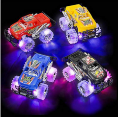 Light Up Monster Truck Push Play Toy