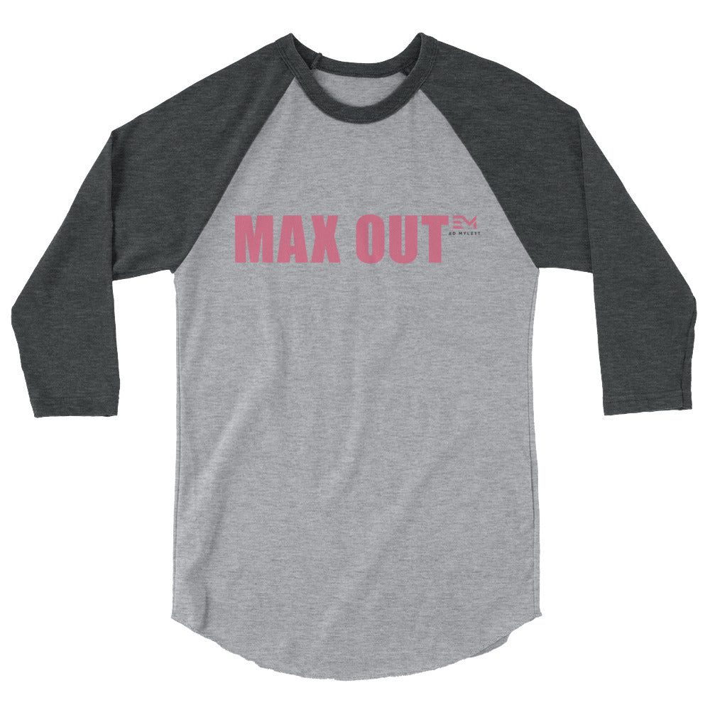 MAX OUT Women's 3/4 sleeve Raglan Tee