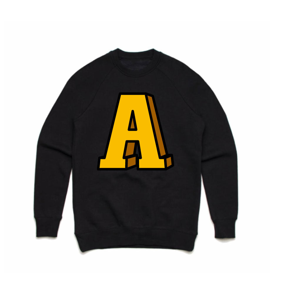 Men's Anchor A Crew Neck Black