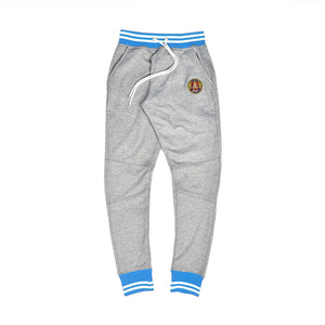 Grey and sky blue joggers UNC