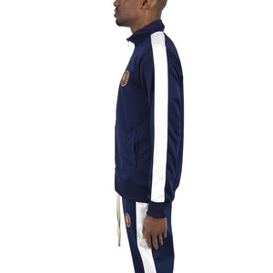 Men's Track Jacket - Navy/White