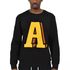Men's Anchor A Crew Neck - Black