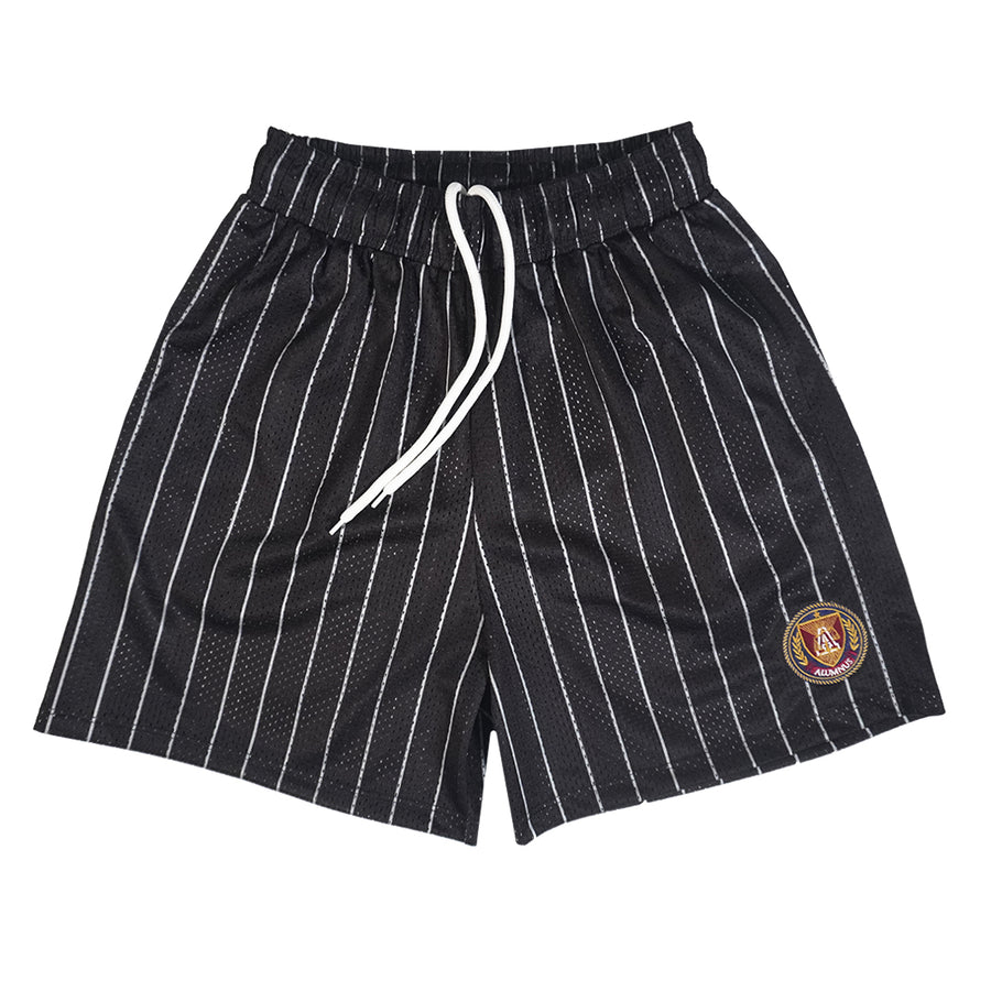 Pinstripe Mesh Short- Black/Grey