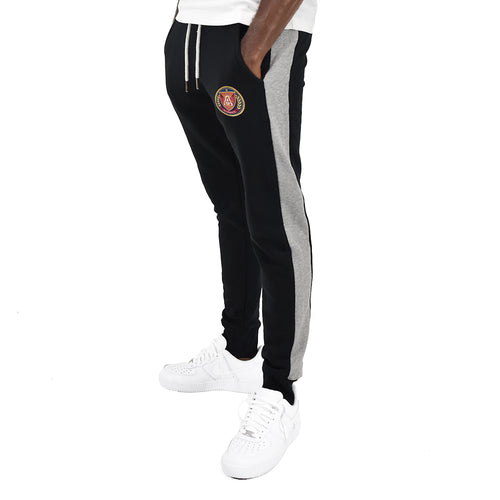 Men's Black Stripe Jogger - Black/Grey