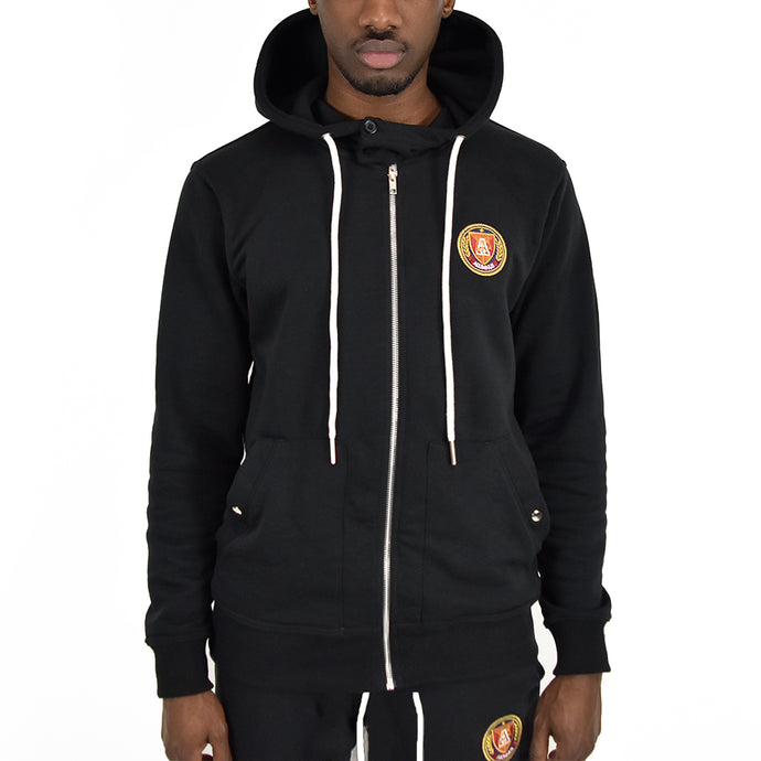 "Men's ""Tech"" Full Zip Hoodie - Black"