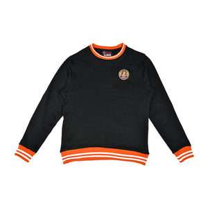 Black/Orange Striped Rib Sweatshirt