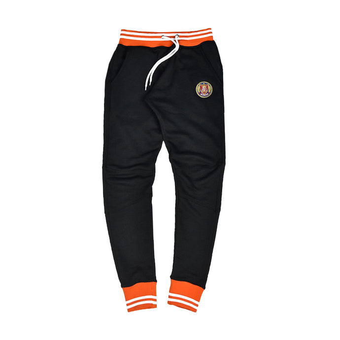 Black/Orange Striped Rib Joggers