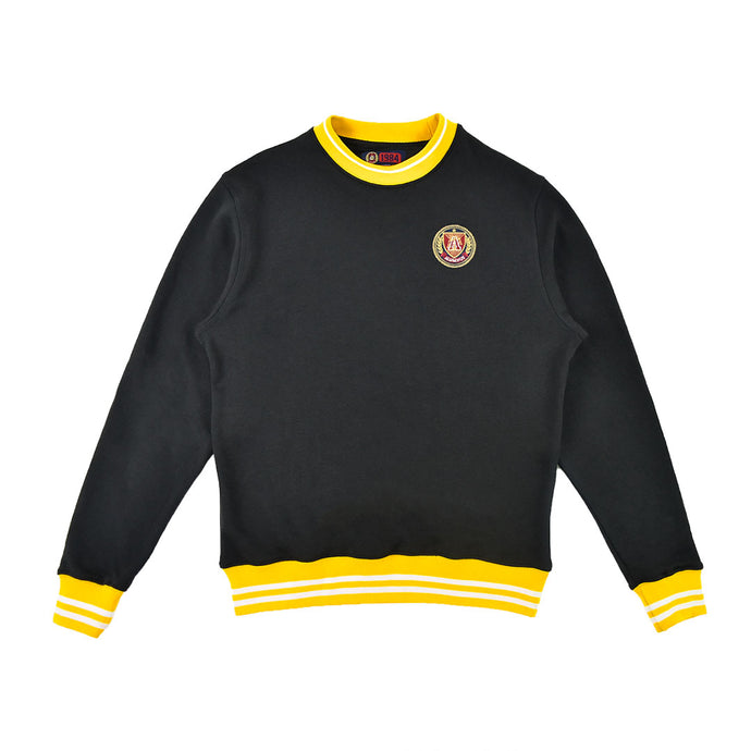 Black/Yellow Striped Rib Sweatshirt