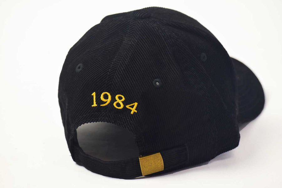 Corduroy Center Seal Hat - Black