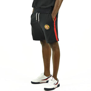 Men's Striped Shorts - Black/Red