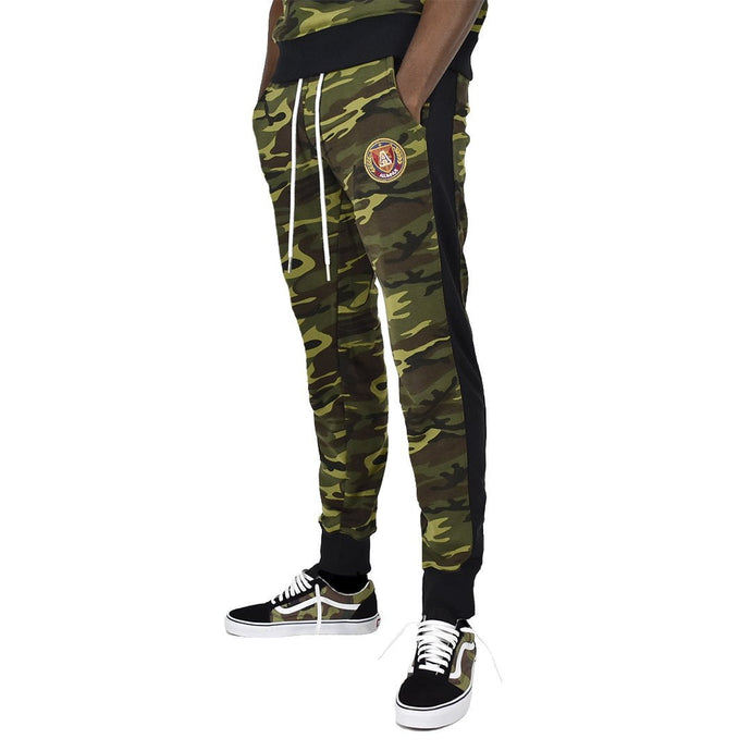 Men's Camouflage Stripe Jogger - Camo/Black