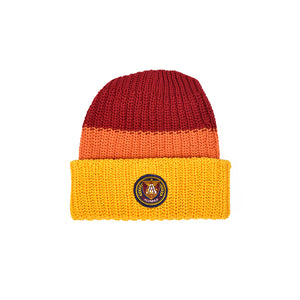Knit Beanie - Gold Multi