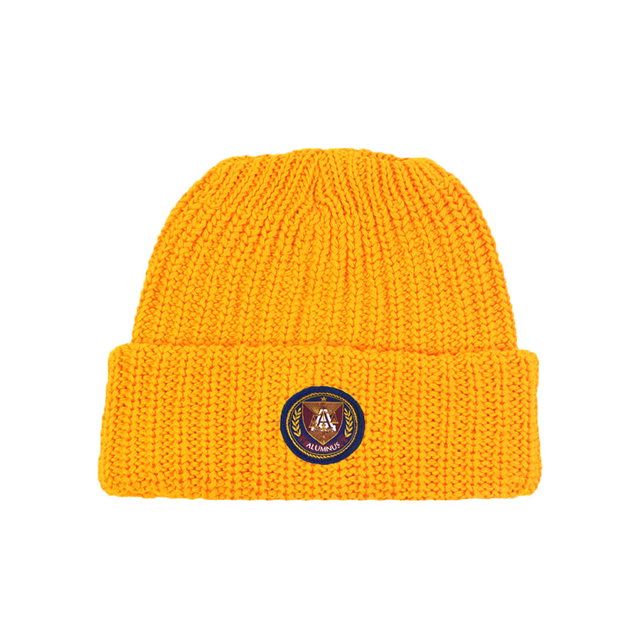 Knit Beanie - Old Gold