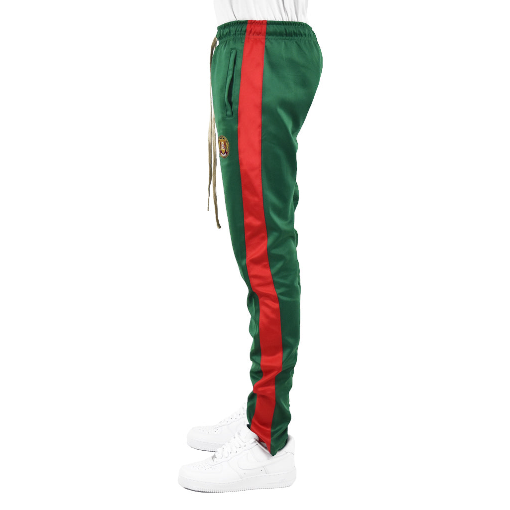 Men's Track Pants - Green/Red