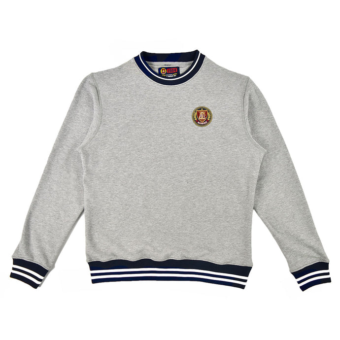 Grey/Navy Striped Rib Sweatshirt