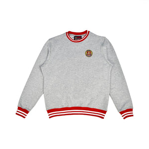 Grey/Red Striped Rib Sweatshirt