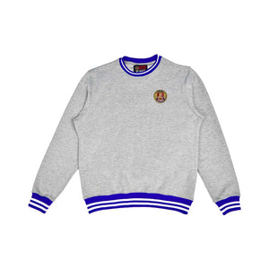 Royal & White Striped Rib Sweatshirt Grey