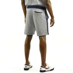 Men's Striped Shorts - Grey/Navy