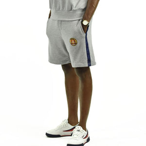 Men's Striped Shorts - Smoke Grey/Navy