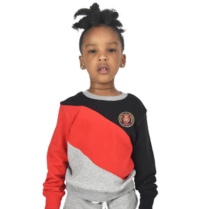 Kids Victory Crewneck- Grey