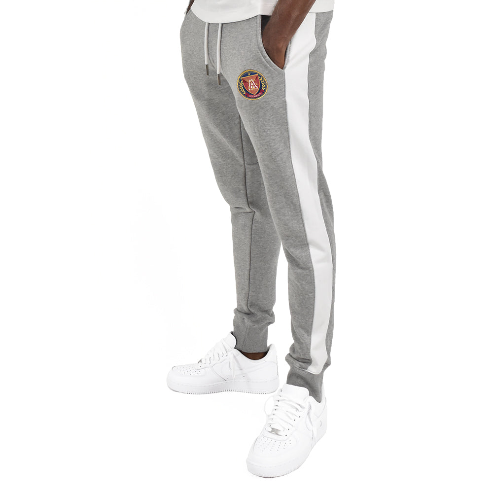Men's Grey Stripe Jogger - Grey/White