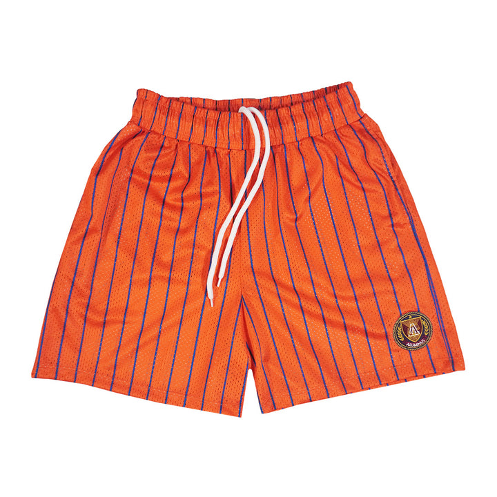 Pinstripe Mesh Short - Orange/Royal