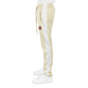Men's Track Pants - Cream/White