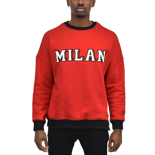 Men's Milan Fleece Crewneck Red