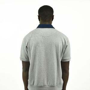 Men's Half Zip - Grey/Navy