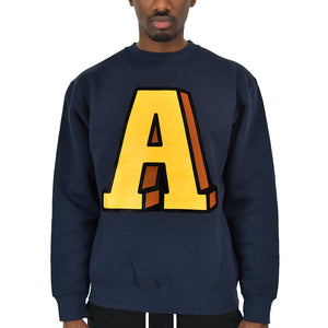 Men's Anchor A Crew Neck - Navy