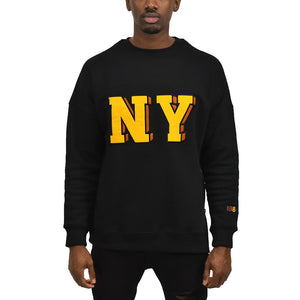 Men's New York Fleece Crewneck Black