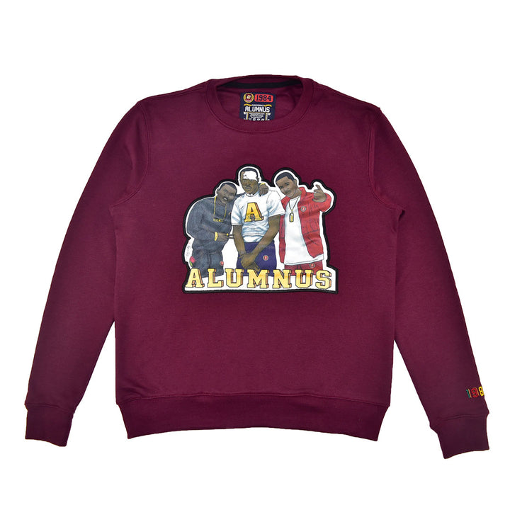 Burgundy Maroon sweatshirt paid in full
